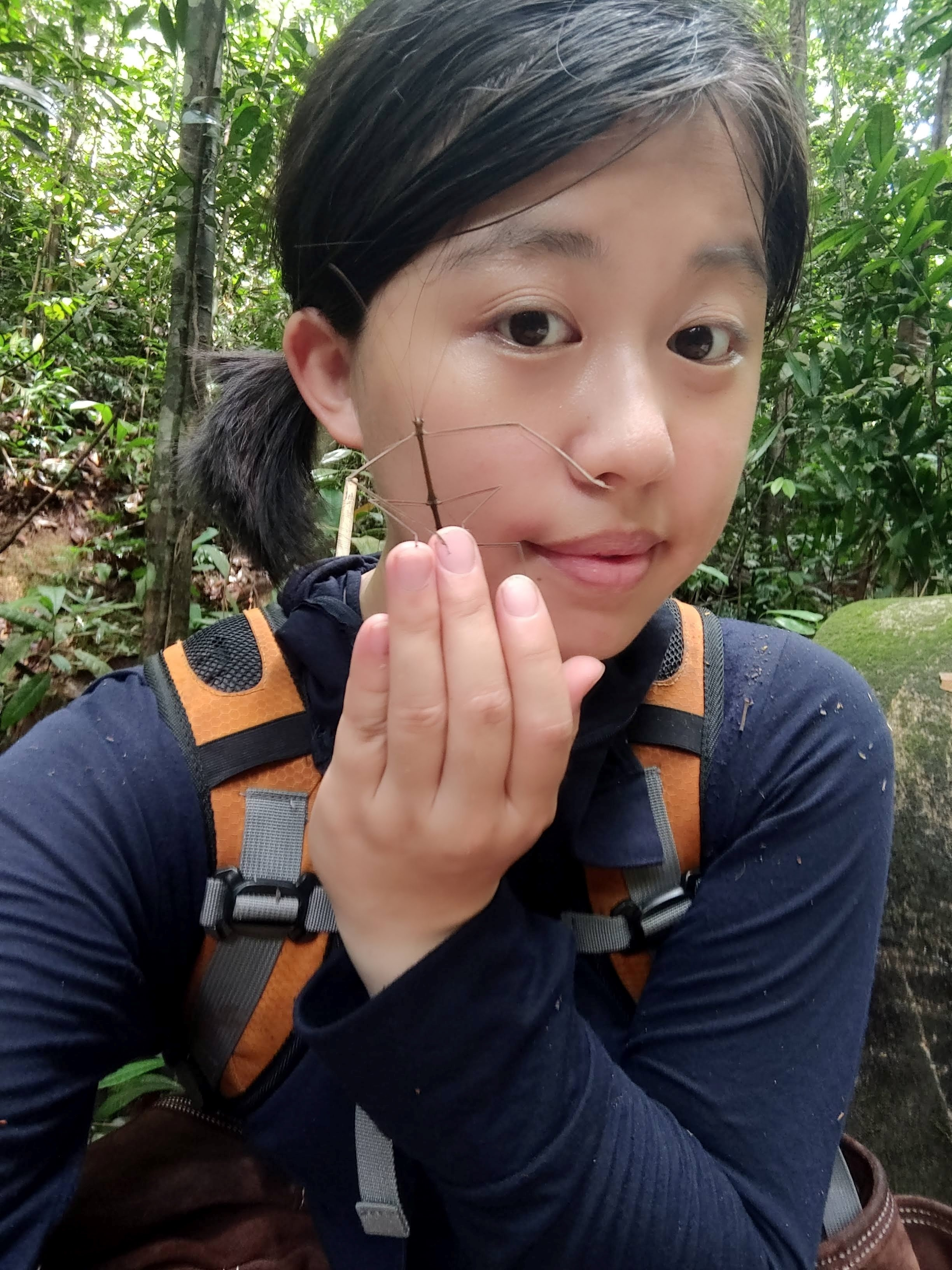 Jenny Sung with stick insect