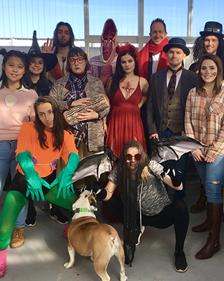 Lab group photo from Halloween 2019